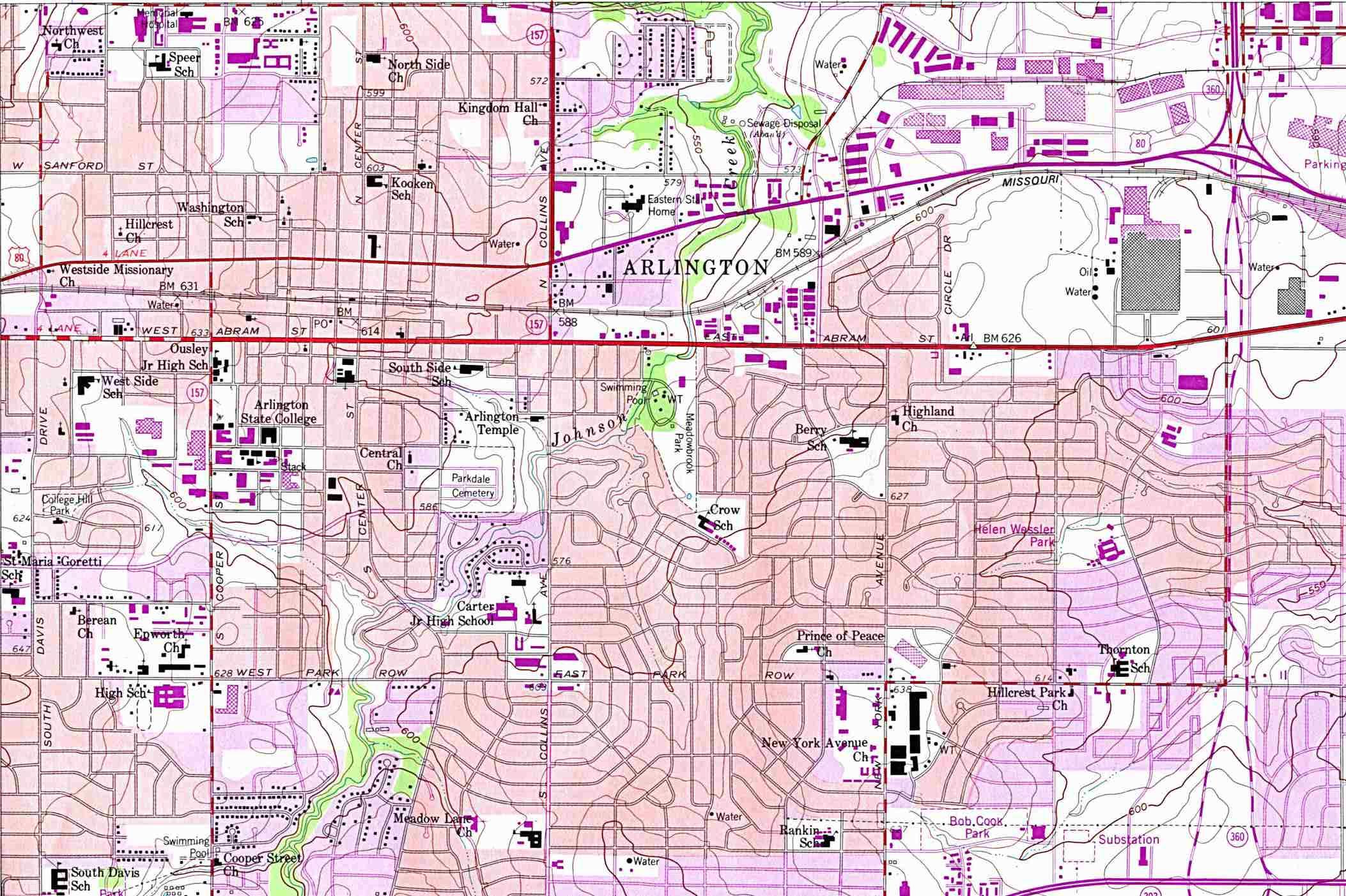 Texas City Maps - Perry-Castañeda Map Collection - Ut Library Online - Google Maps Dallas Texas Usa