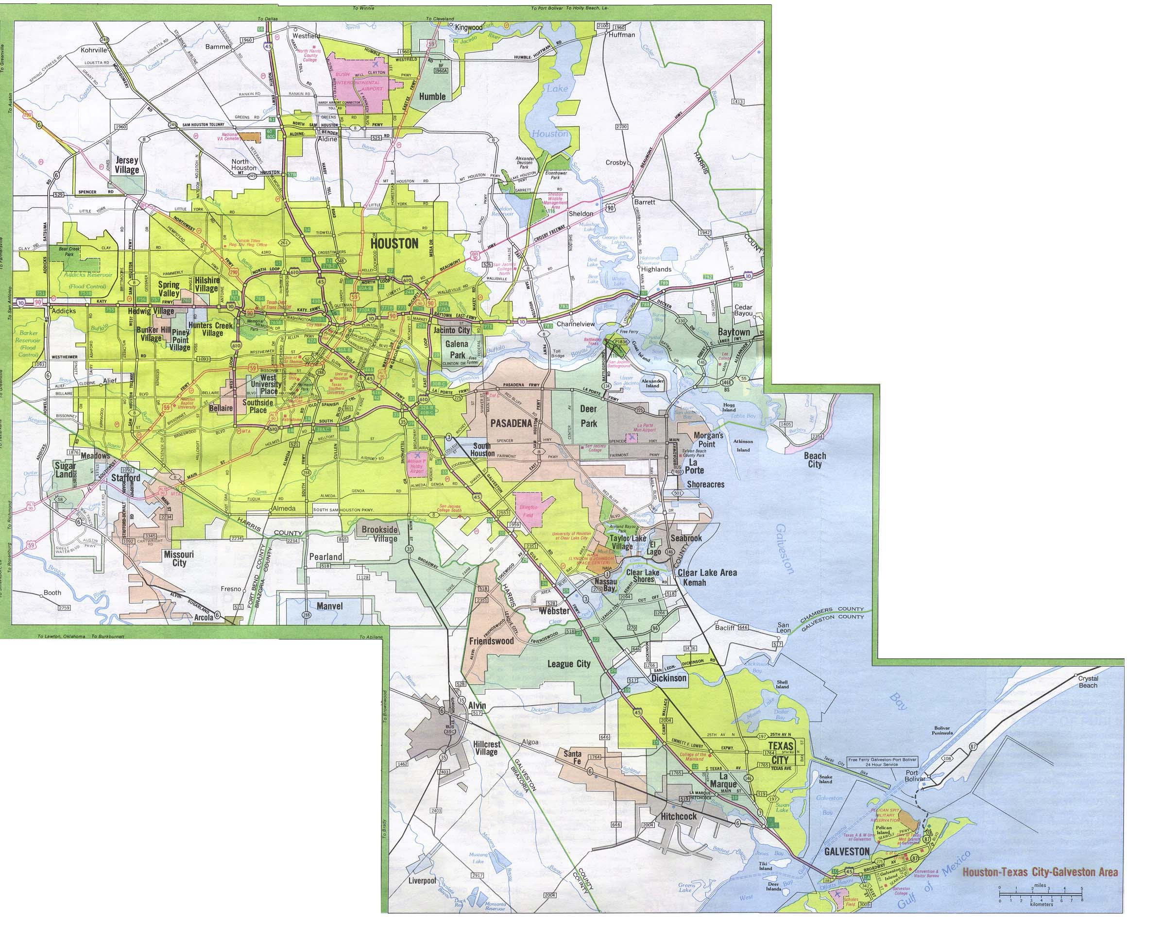 Texas City Maps - Perry-Castañeda Map Collection - Ut Library Online - Google Maps Pasadena Texas