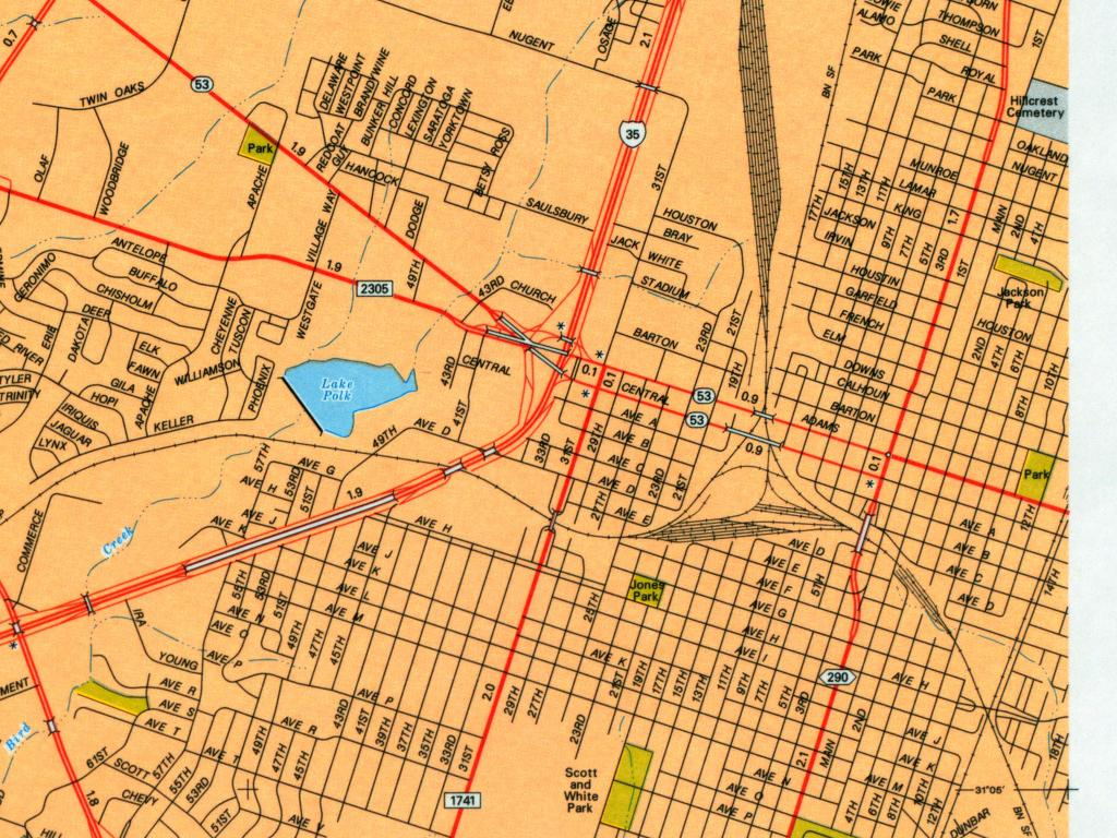 Texas City Maps - Perry-Castañeda Map Collection - Ut Library Online - Texas Street Map