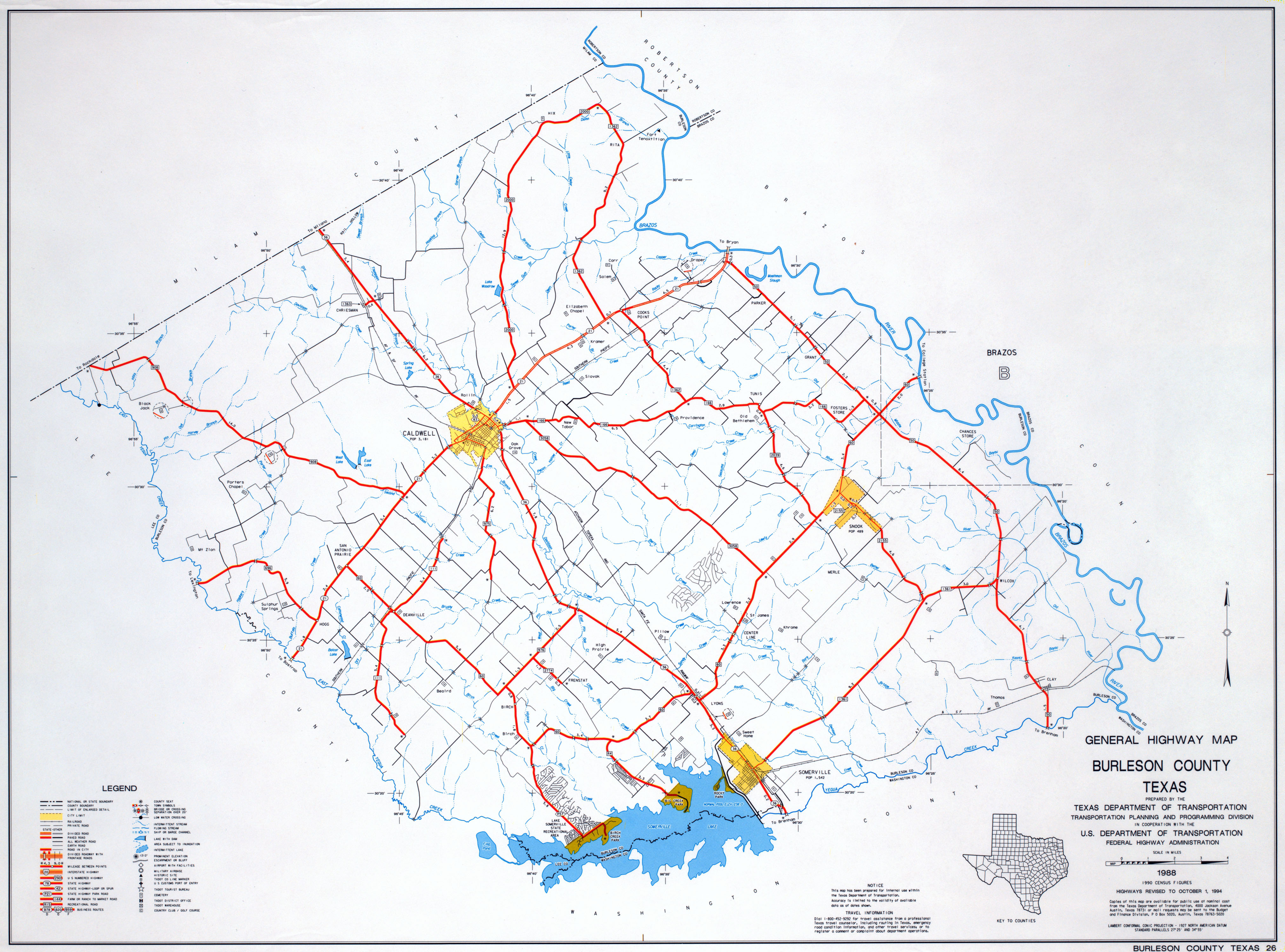 Texas County Highway Maps Browse - Perry-Castañeda Map Collection - Brazos County Texas Map