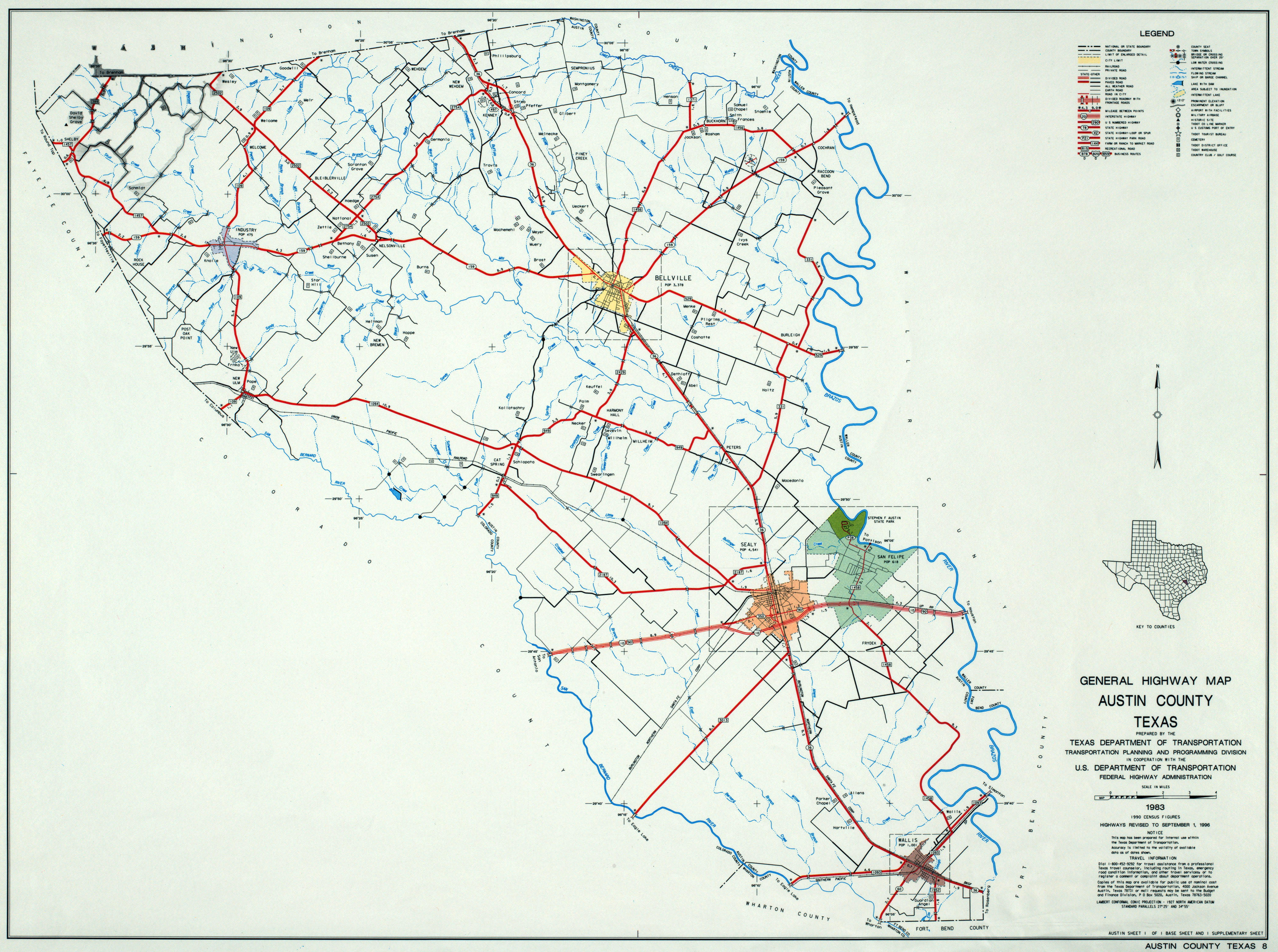 Texas County Highway Maps Browse - Perry-Castañeda Map Collection - Sealy Texas Map