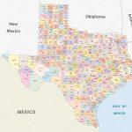 Texas County Map — Stock Vector © Lesniewski #51835317   Texas County Map Vector