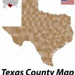 Texas County Map — Stock Vector © Malachy666 #71084427   Texas County Map Vector