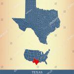 Texas County Map Vector Outline Gray Stock Vector (Royalty Free   Texas County Map Vector