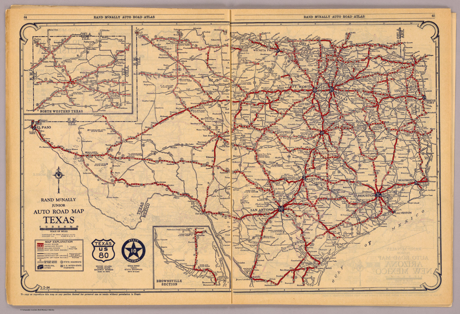 Texas. - David Rumsey Historical Map Collection - Rand Mcnally Texas Road Map