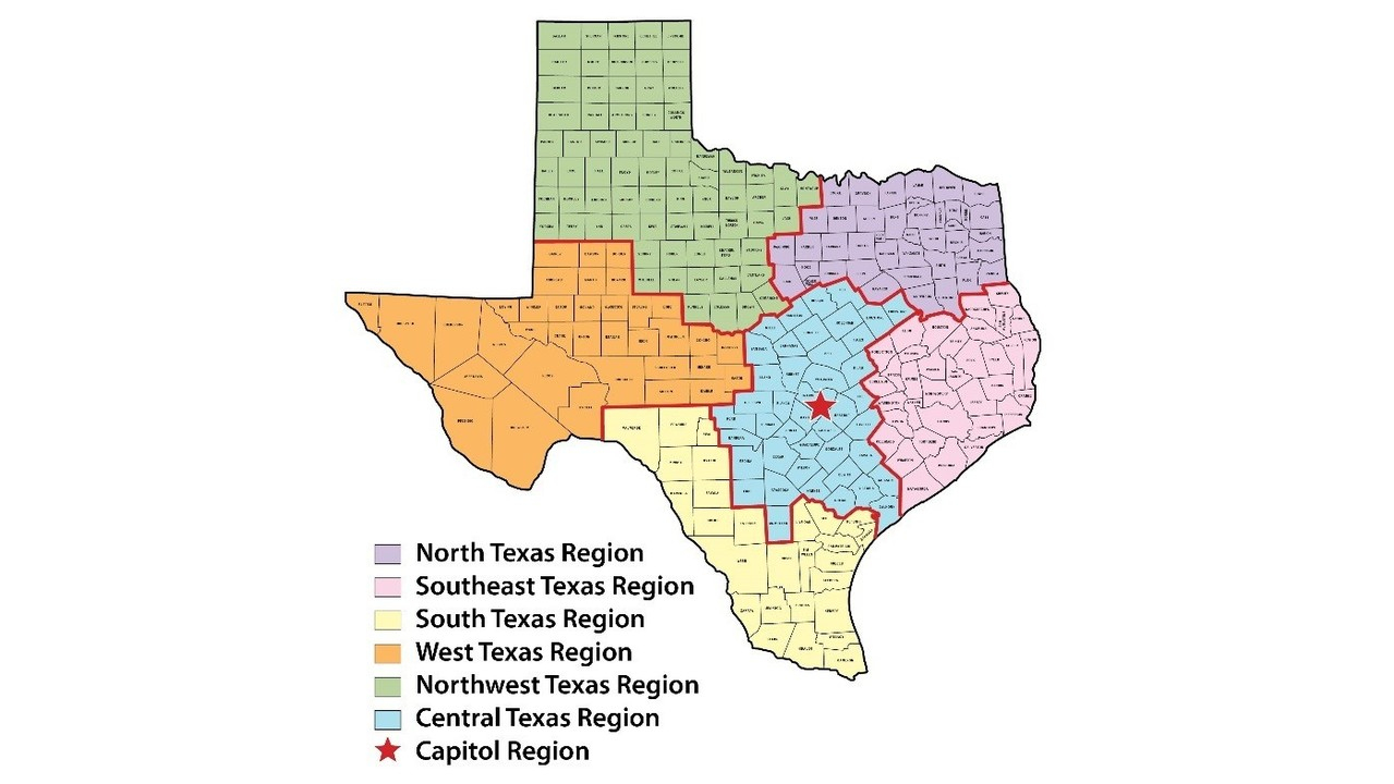 Texas Dps Launches Social Media Accounts - Texas Dps Region Map