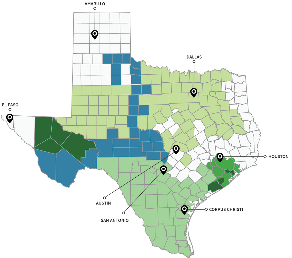 Texas Energy Deregulation Map | Electricity Deregulated Cities In Texas - Texas Utility Map