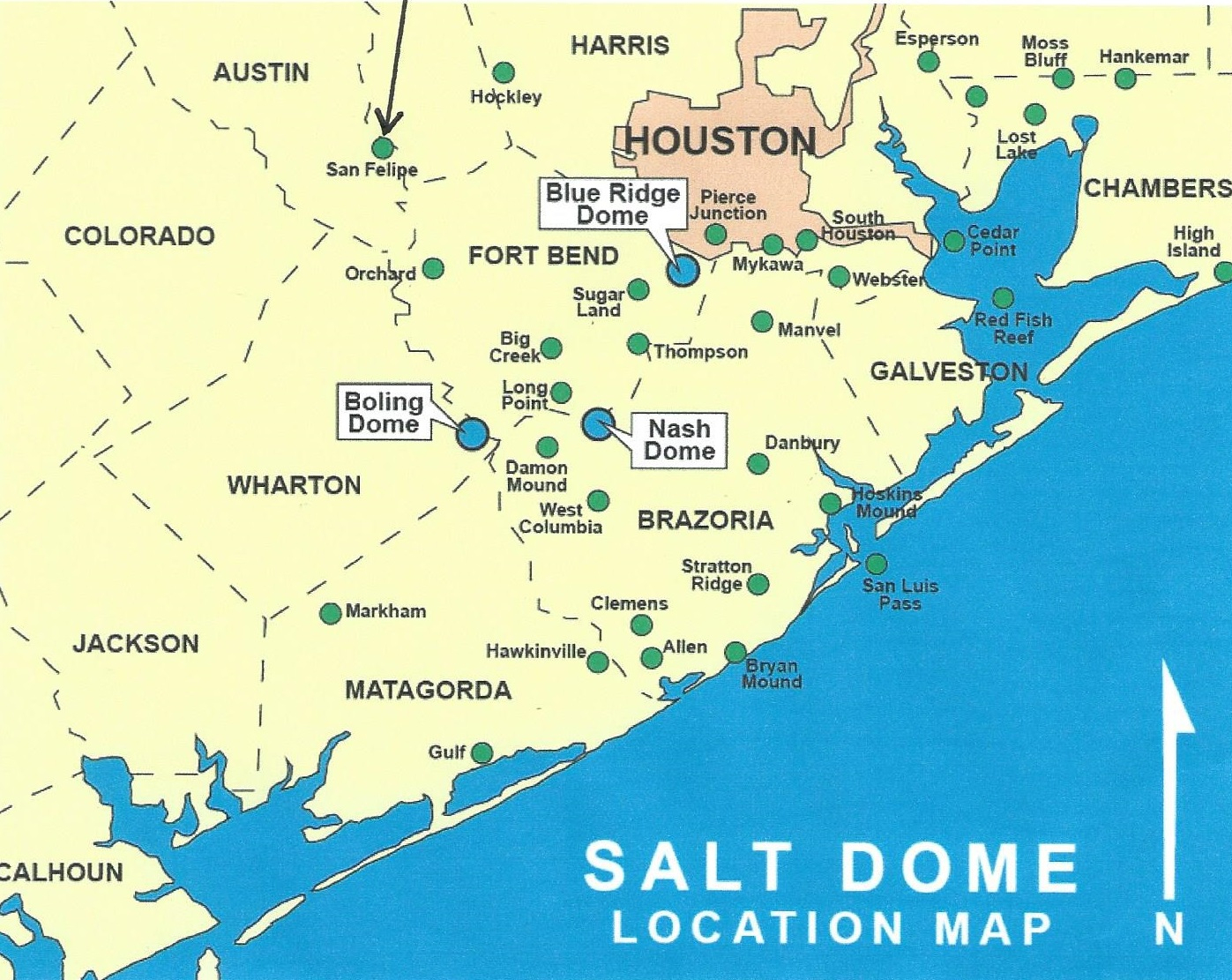 Texas Energy Exploration, Llc: Salt Dome Map Gulf Coast – Texas - Map Coastal Texas