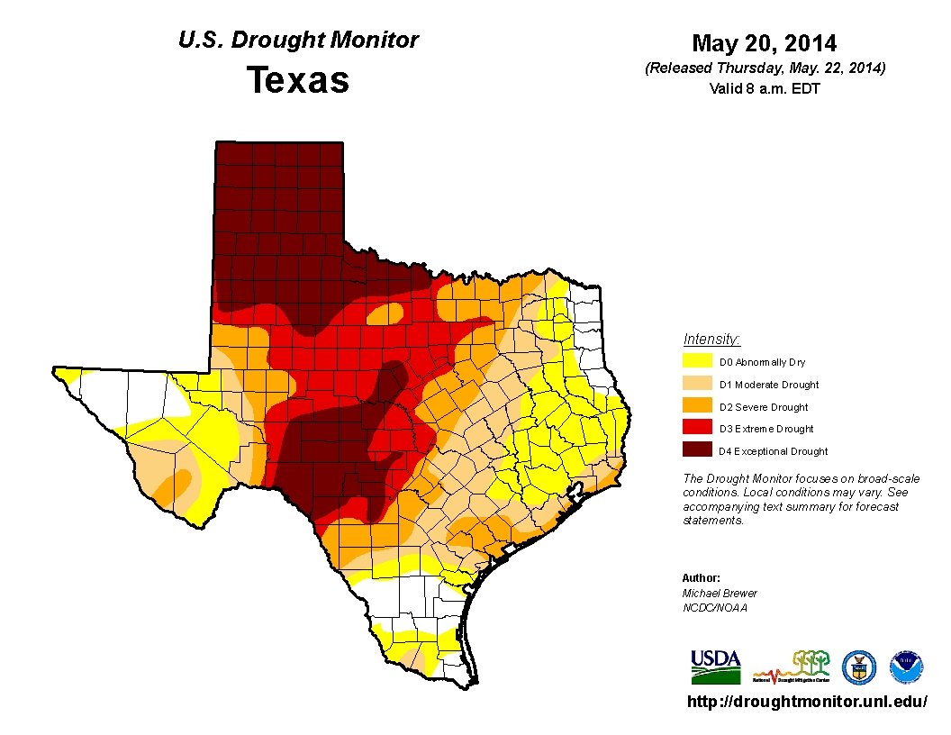 Texas Flash Floods Ease Drought At A Cost. Is California Next? | The - Texas Flood Map