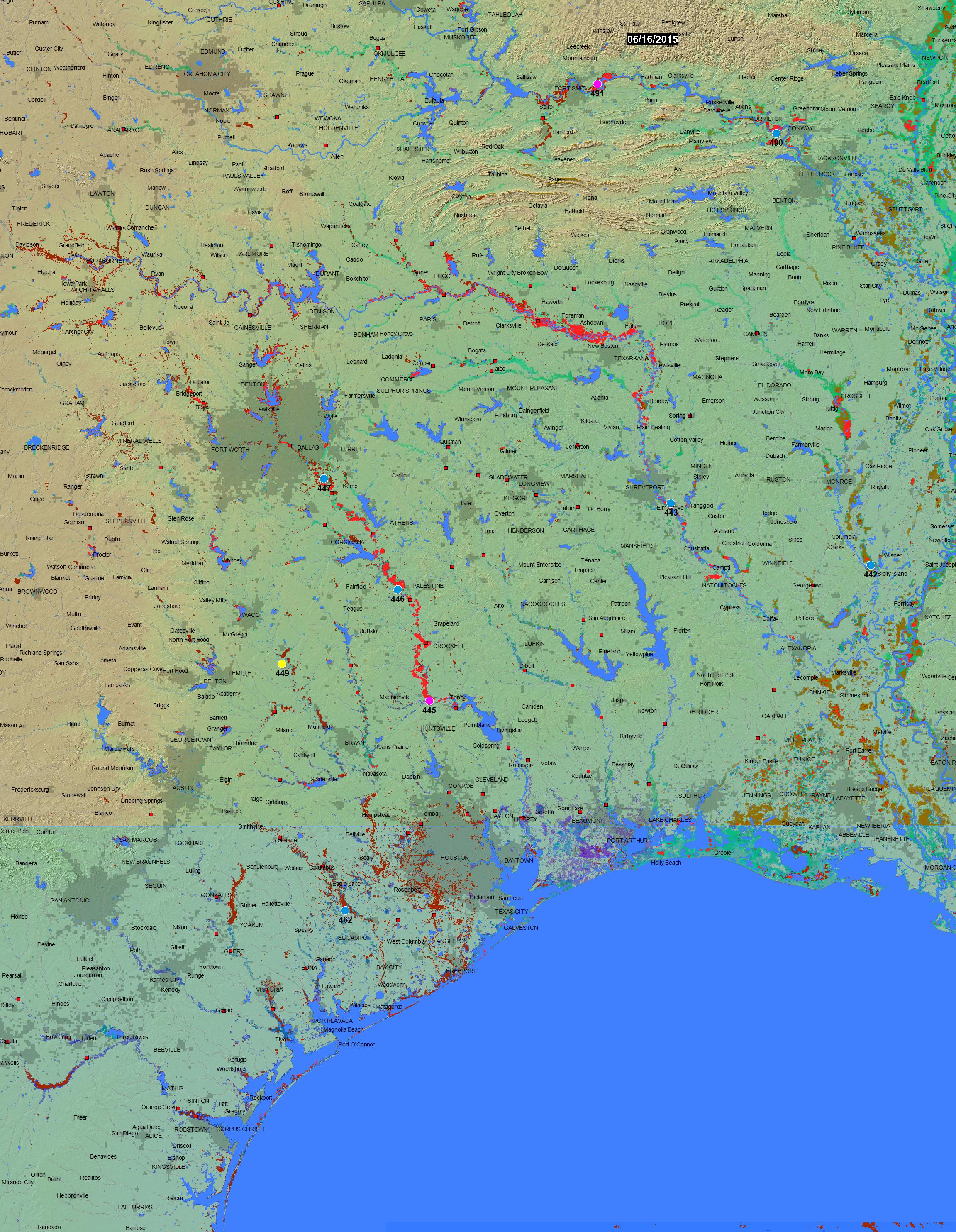 Texas Flood Map 2015 - Texas Flood Map