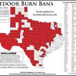Texas Forest Service Burn Ban Map – Easttexasradio   Texas Burn Ban Map
