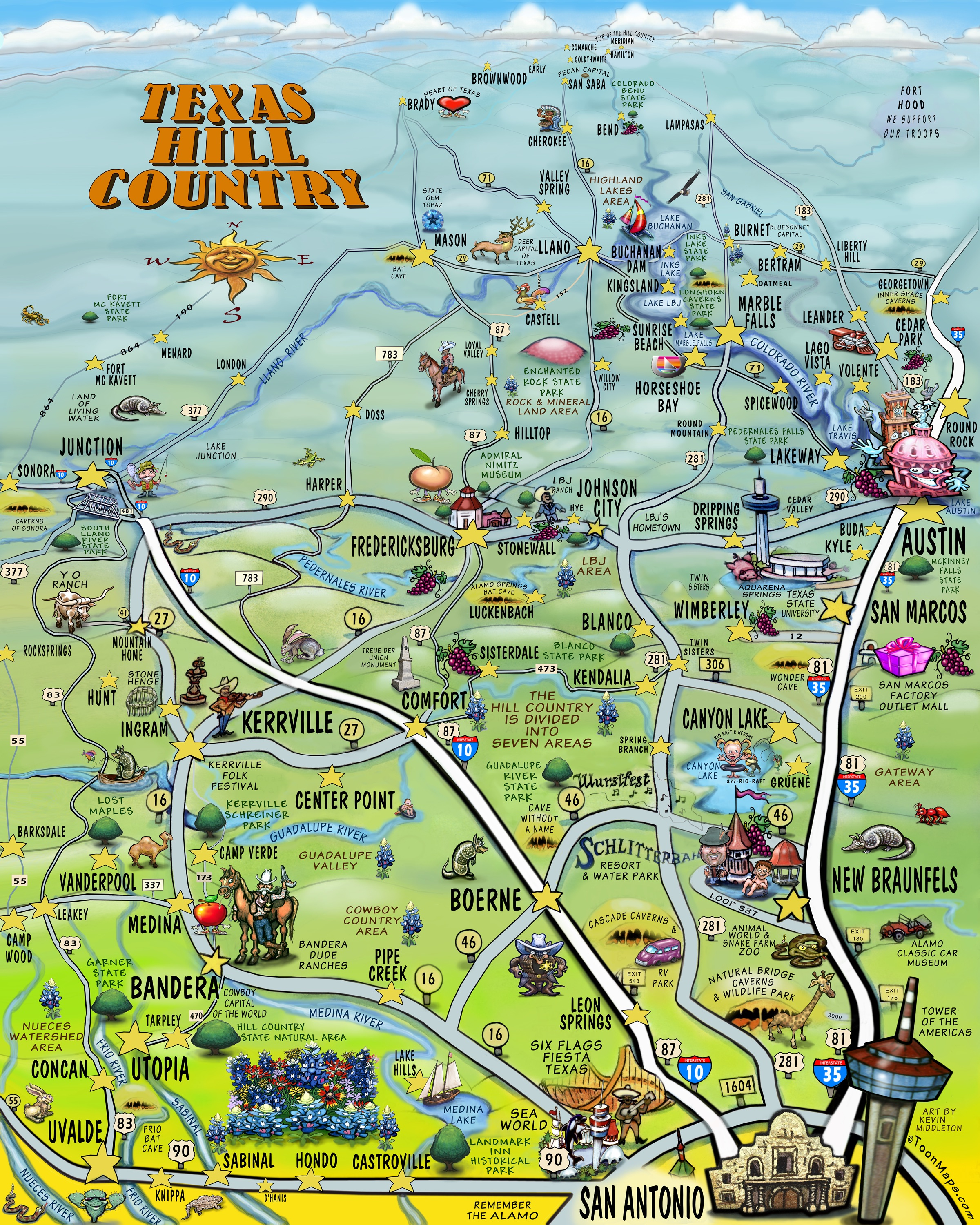 Texas Hill Country Invites San Antonio To Explore And Discover | The - Texas Hill Country Wineries Map