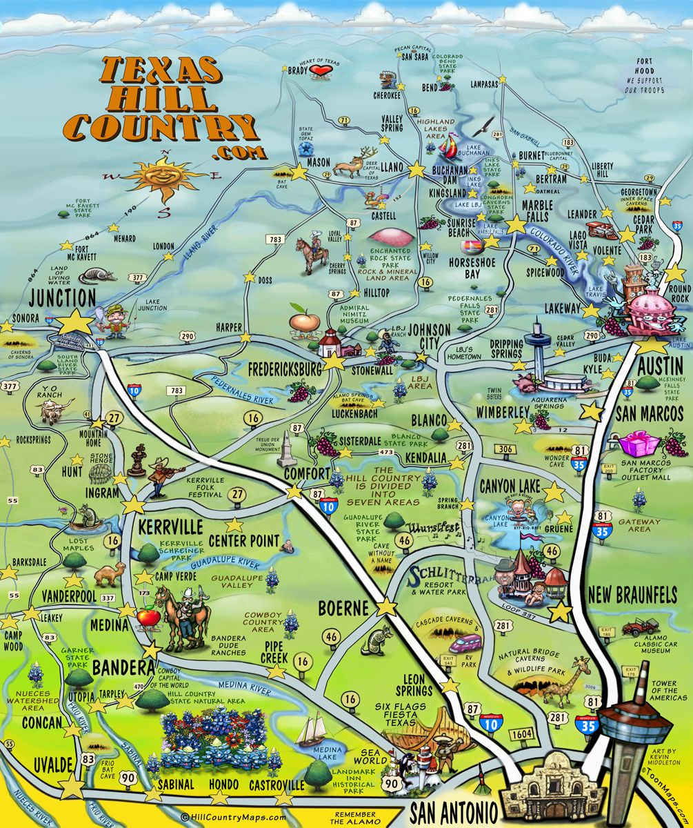 Texas Hill Country | Texas In 2019 | Texas Hill Country, Texas - Johnson City Texas Map