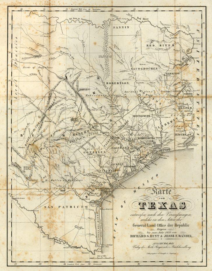 Texas Map 1800