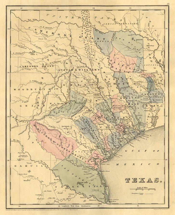 Texas Map 1836
