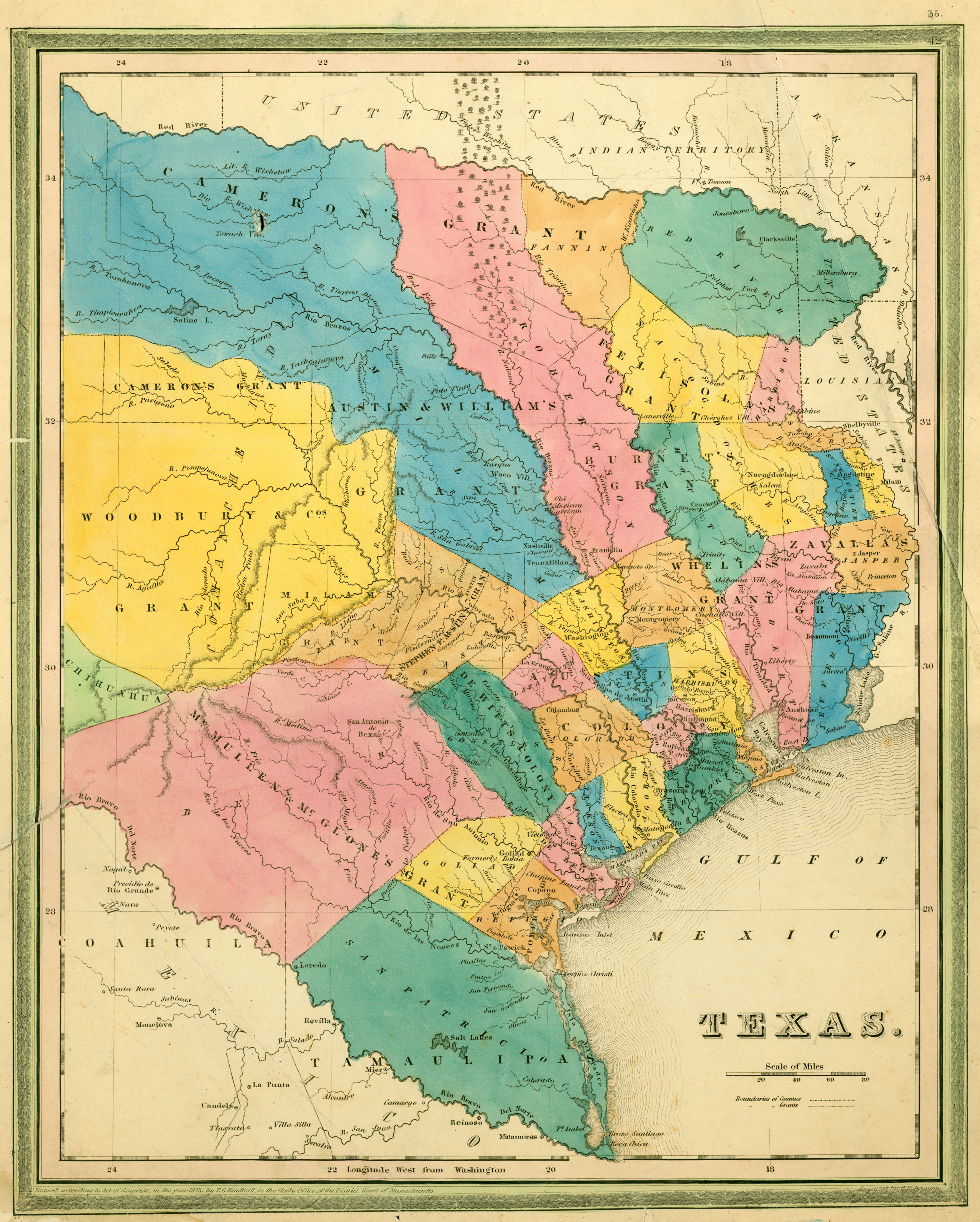 Texas Historical Maps - Perry-Castañeda Map Collection - Ut Library - Texas Map 1850