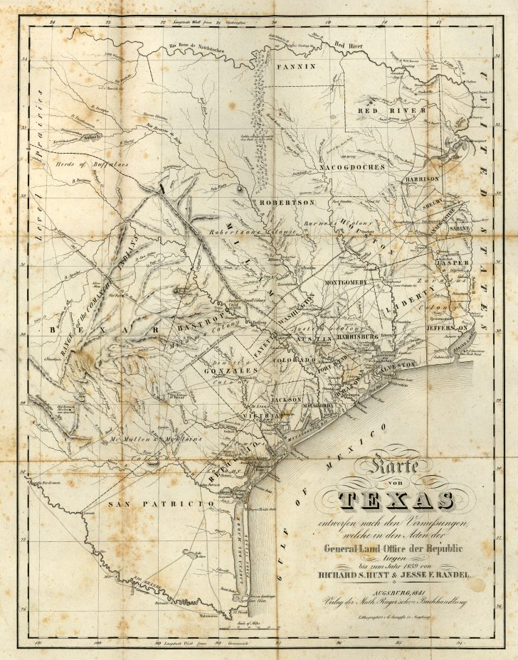 Vintage Texas Maps For Sale