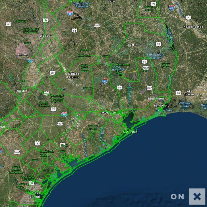 Texas Deer Hunting Zones Map