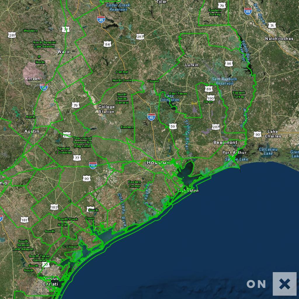 Texas Hunt Zone Open Wildlife - Texas Deer Hunting Zones Map