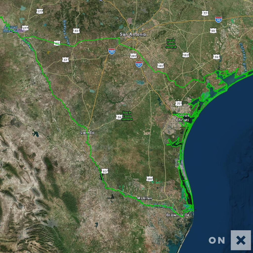 Texas Hunt Zone South Texas General Whitetail Deer - Texas Hunting Map