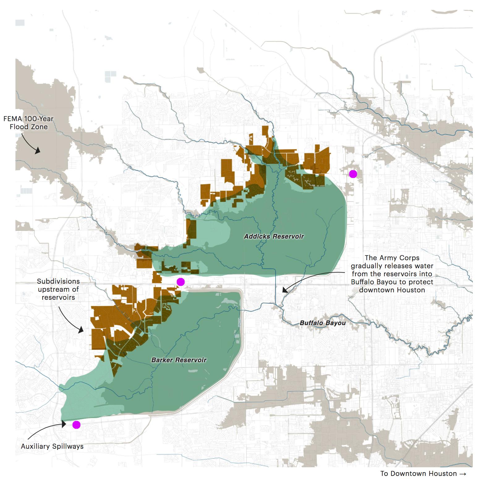 Texas Hurricane Harvey Flood Damage Lawyer   Addicks & Barker - Barker Texas Map