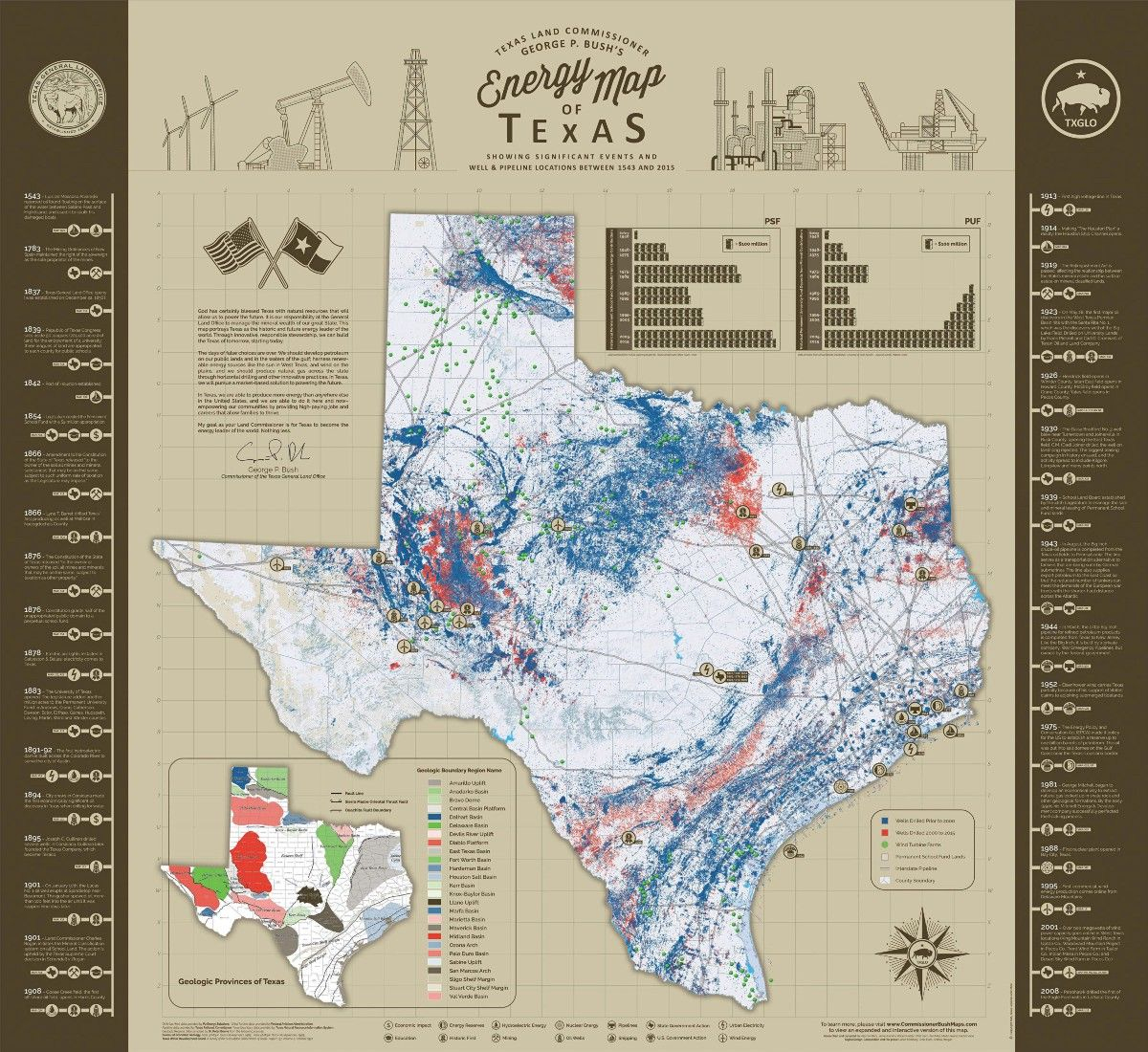 Texas Land Commissioner George P. | Texas Land, Texas History And - Texas Land Map
