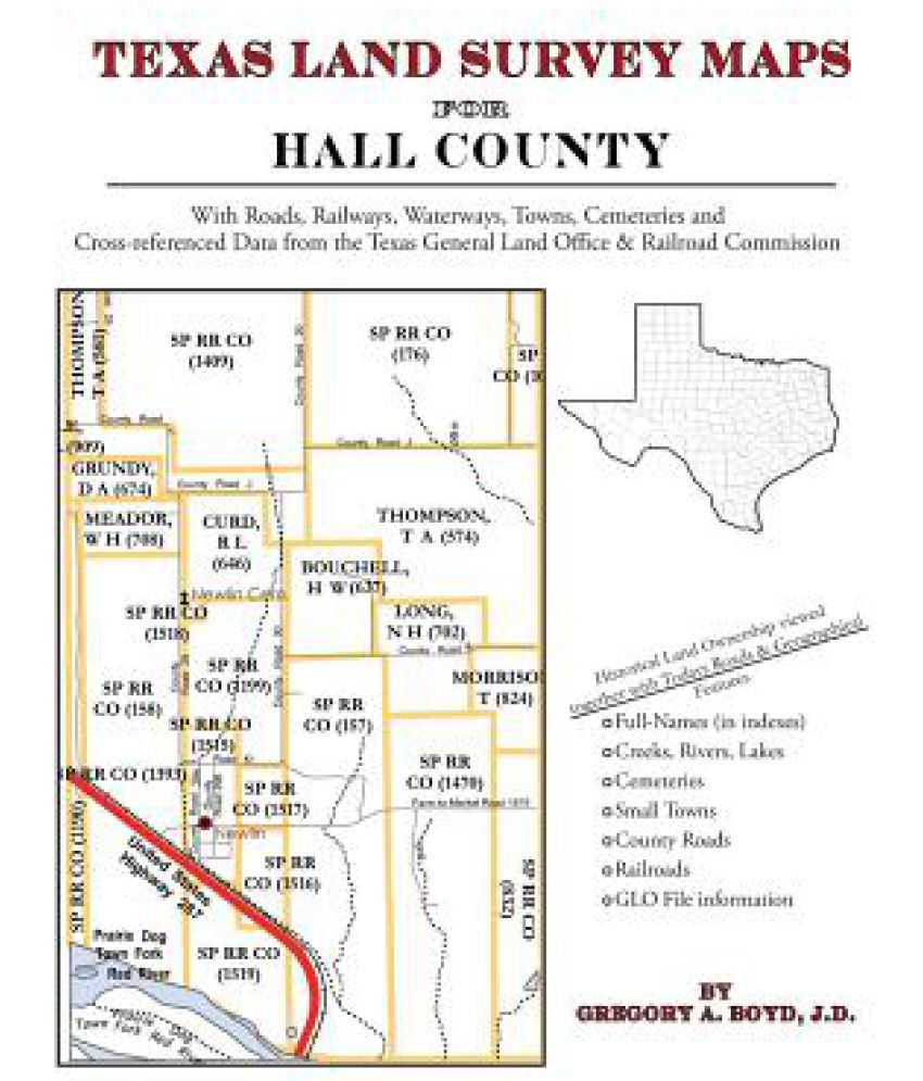 Texas Land Survey Maps For Hall County: Buy Texas Land Survey Maps - Texas Land Survey Maps