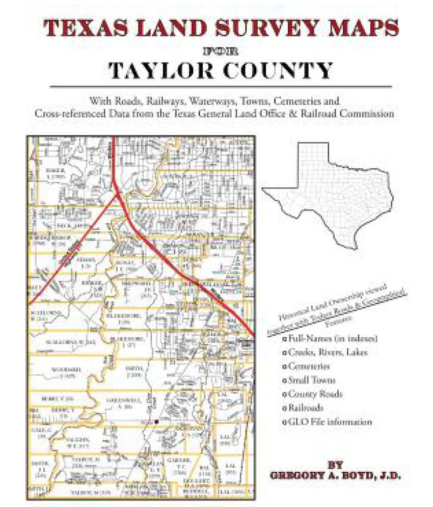 Texas Land Survey Maps For Taylor County: Buy Texas Land Survey Maps - Texas Land Survey Maps