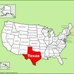 Texas Location On The U.s. Map   Full Map Of Texas