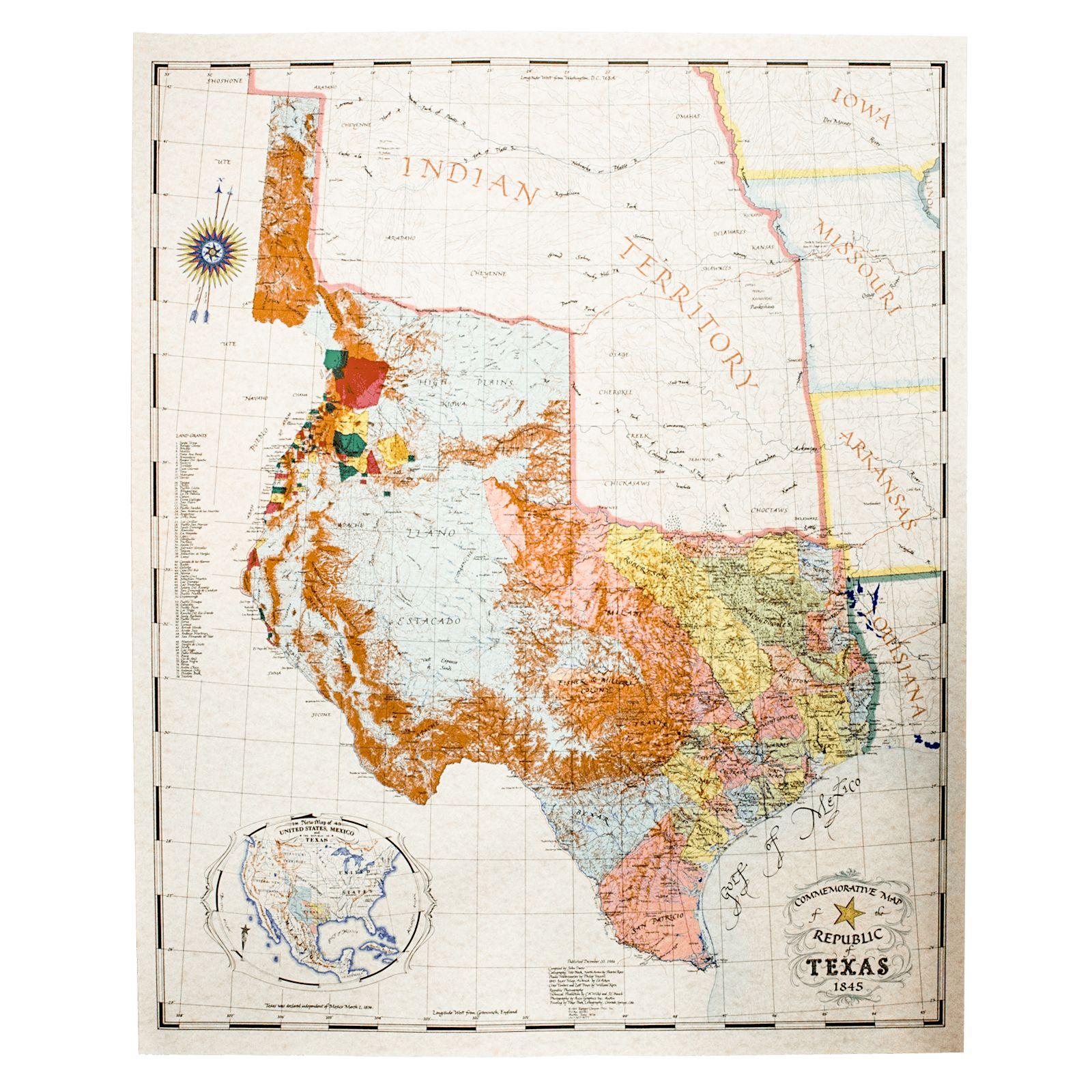 Texas Map 1845 | Smoothoperators - Republic Of Texas Map 1845