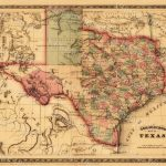 Texas Map Giant 1866 Old Texas Map Old West Map Antique   Old Texas Map Wall Art