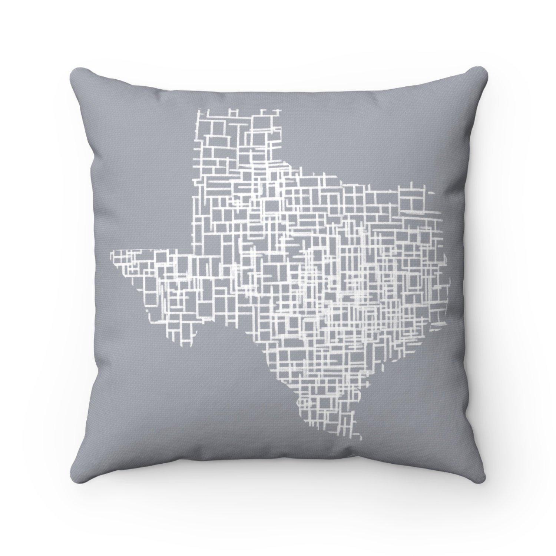 Texas Map Living Room Decor Map Pillow Throw Pillow Covers   Etsy - Texas Map Pillow