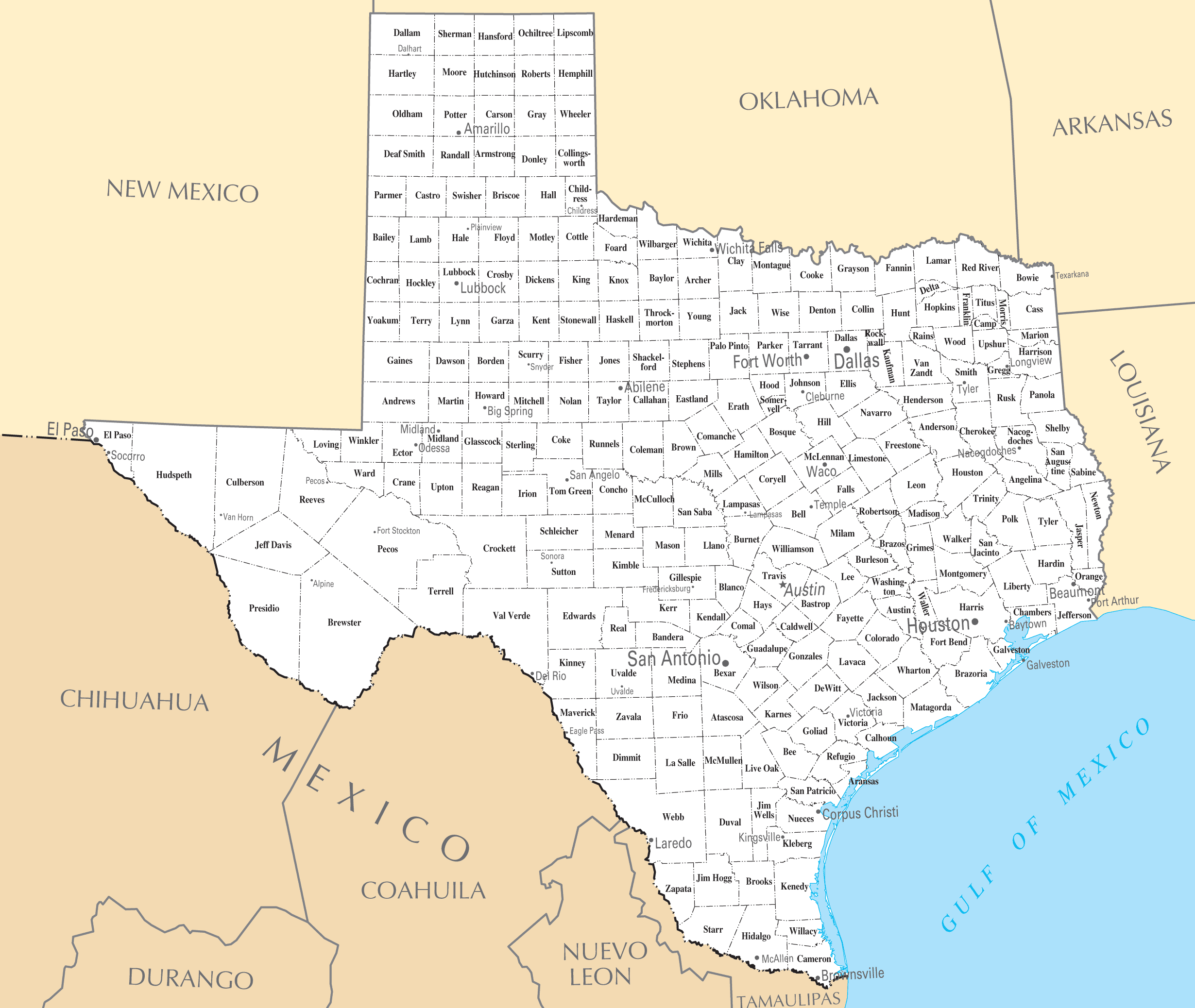 Texas Map Of Cities And Travel Information | Download Free Texas Map - Alpine Texas Map