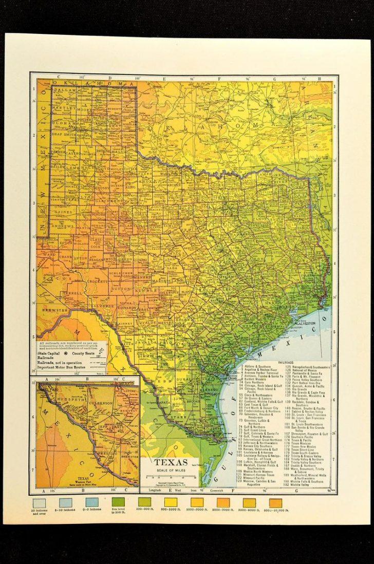 Texas Map Art