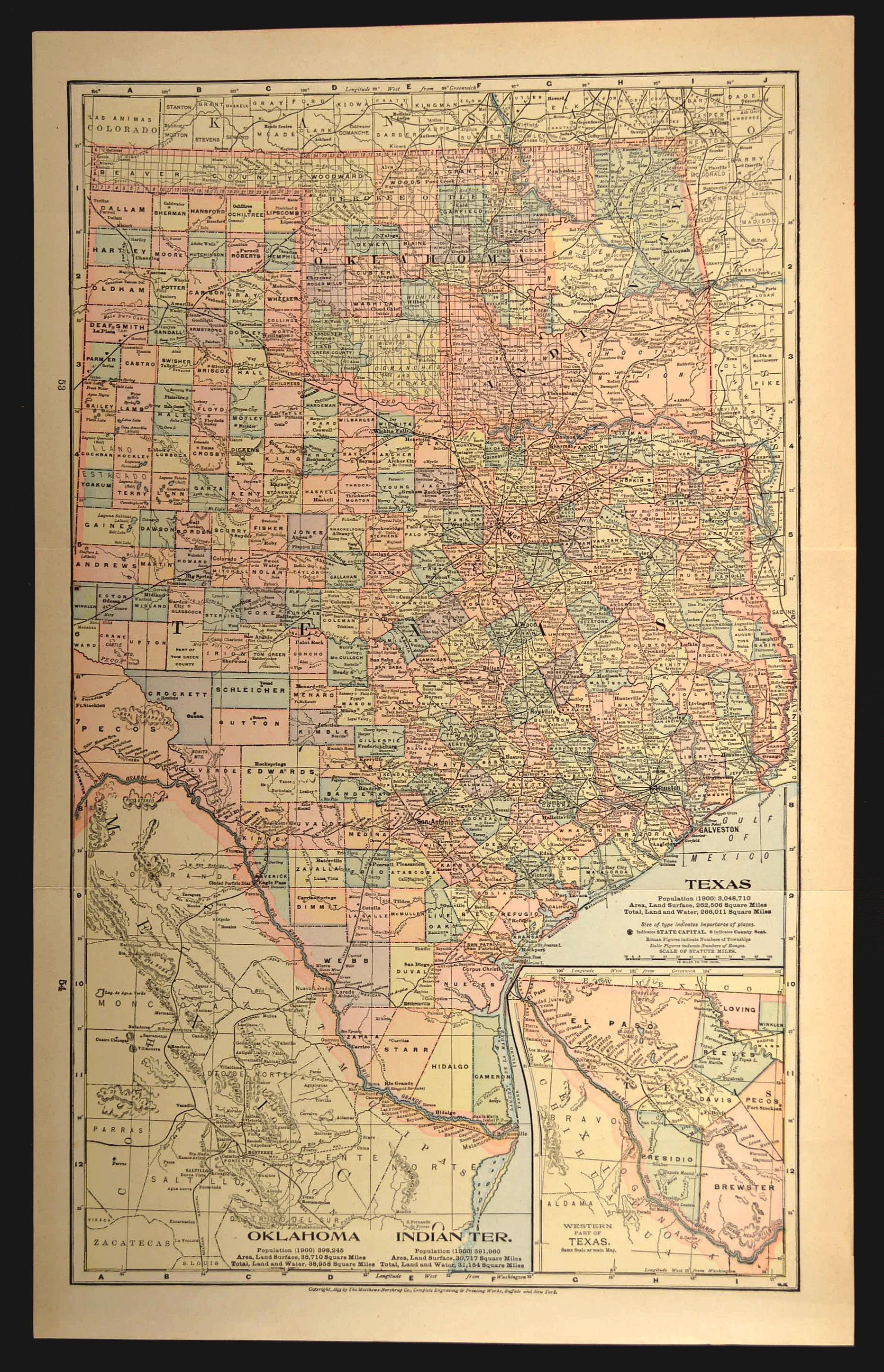 Texas Map Of Texas Wall Art Decor Large Oklahoma Map Antique | Etsy - Large Texas Wall Map