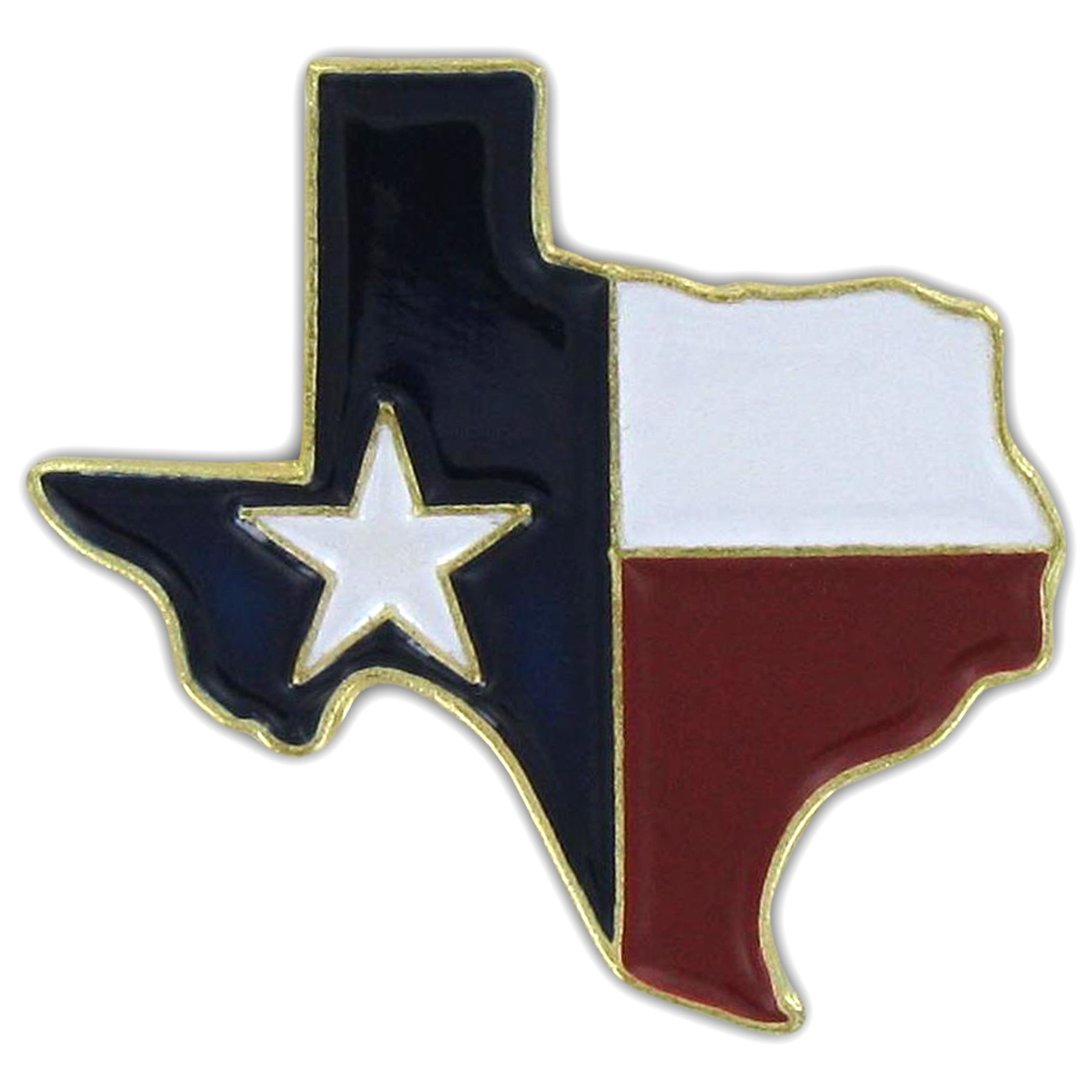 Texas Map Pin - Texas Flag Map