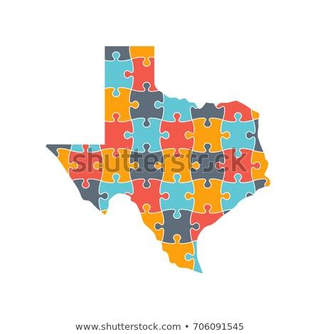 Texas Map Rebuild Puzzle Solution Info Graphic Image Vectorielle De - Texas Map Puzzle