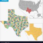 Texas Map Royalty Free Vector Image   Vectorstock   Texas County Map Vector