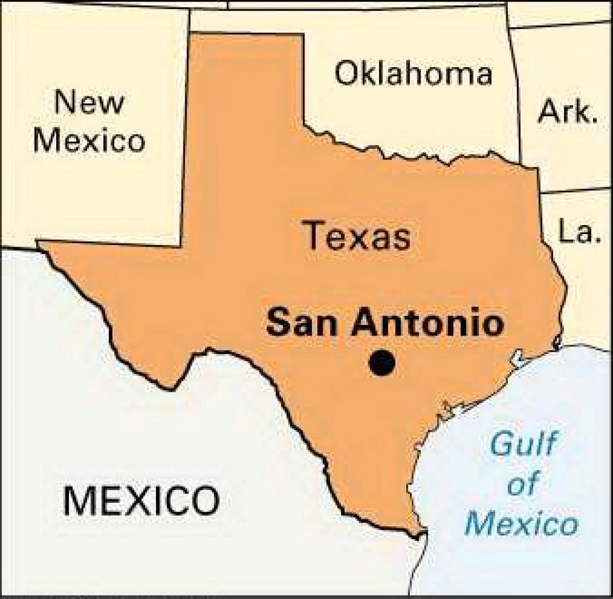 Texas Map San Antonio - San Antonio Map Of Texas (Texas - Usa) - San Antonio Texas Maps