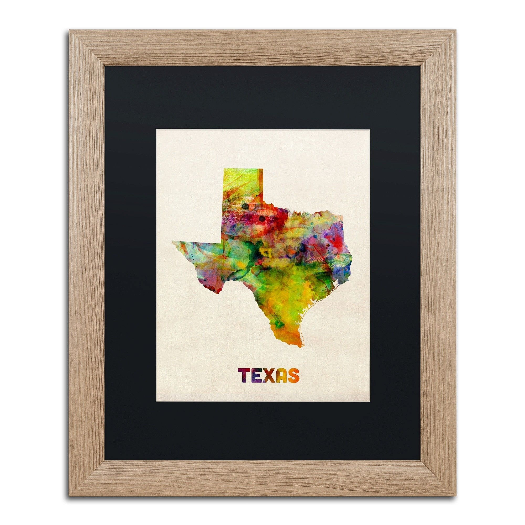 Texas Mapmichael Tompsett Framed Graphic Art | Graphic Art And - Texas Map Framed Art