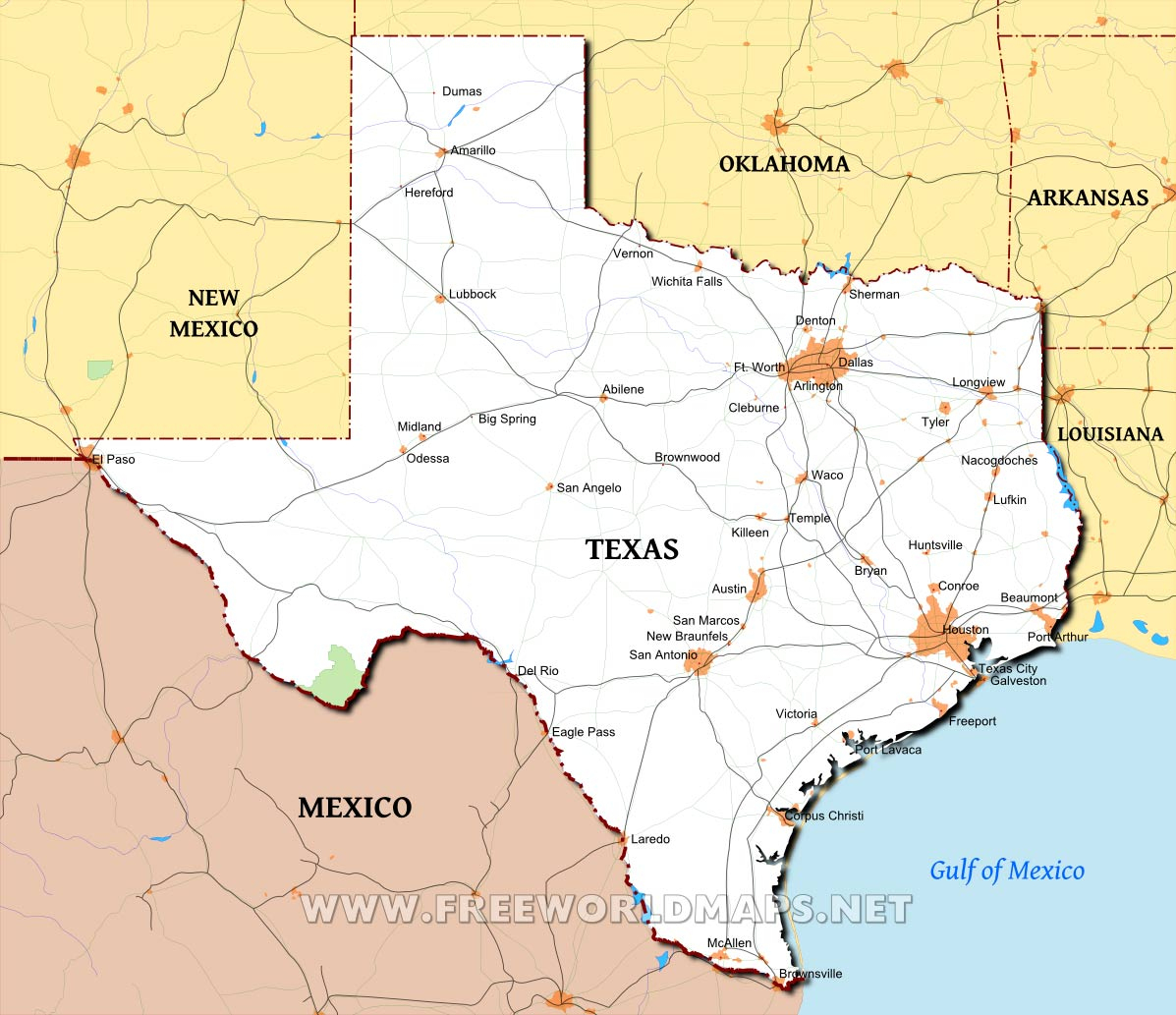 Texas Maps - Big Spring Texas Map