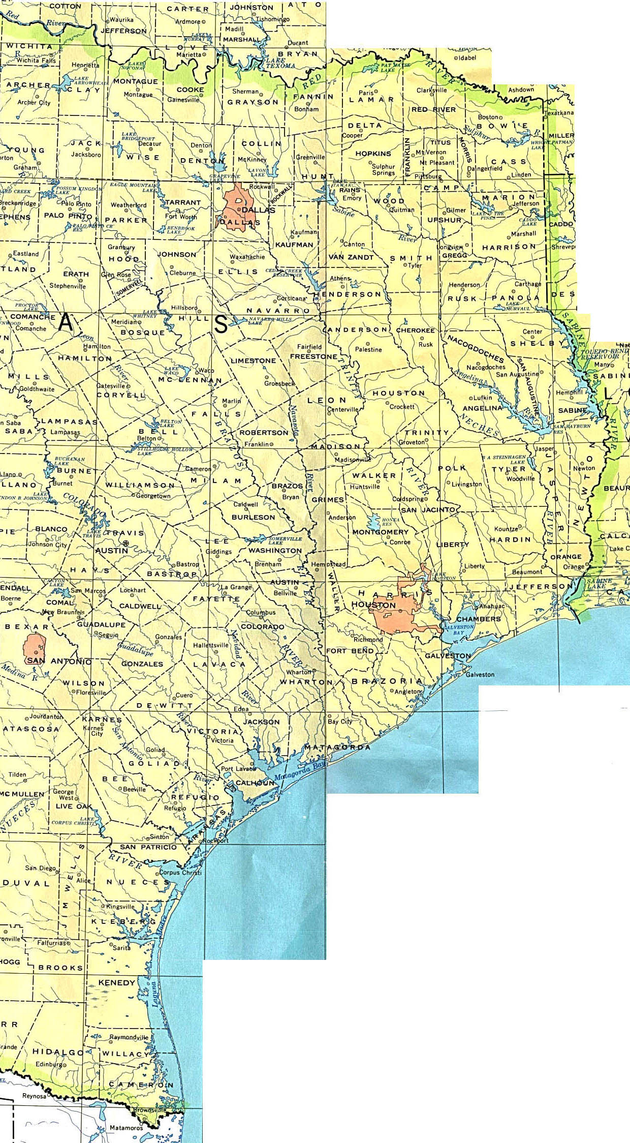 Texas Maps - Perry-Castañeda Map Collection - Ut Library Online - Map Of Texas Coastline Cities