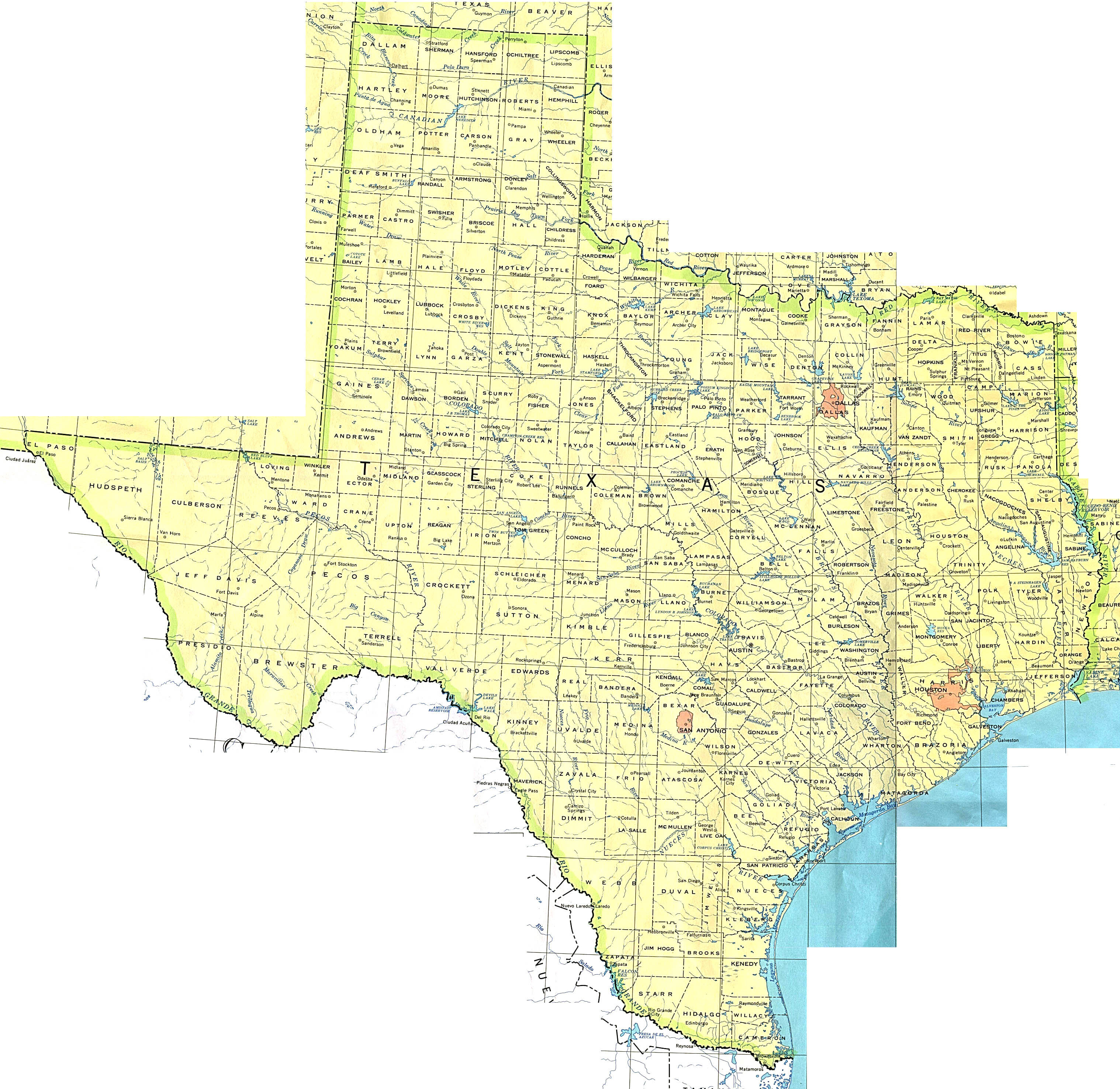 Texas Maps - Perry-Castañeda Map Collection - Ut Library Online - Texas Lakes Map