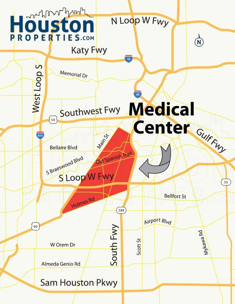 Texas Medical Center Houston Homes & Neighborhood Guide   For Chris - Texas Medical Center Map