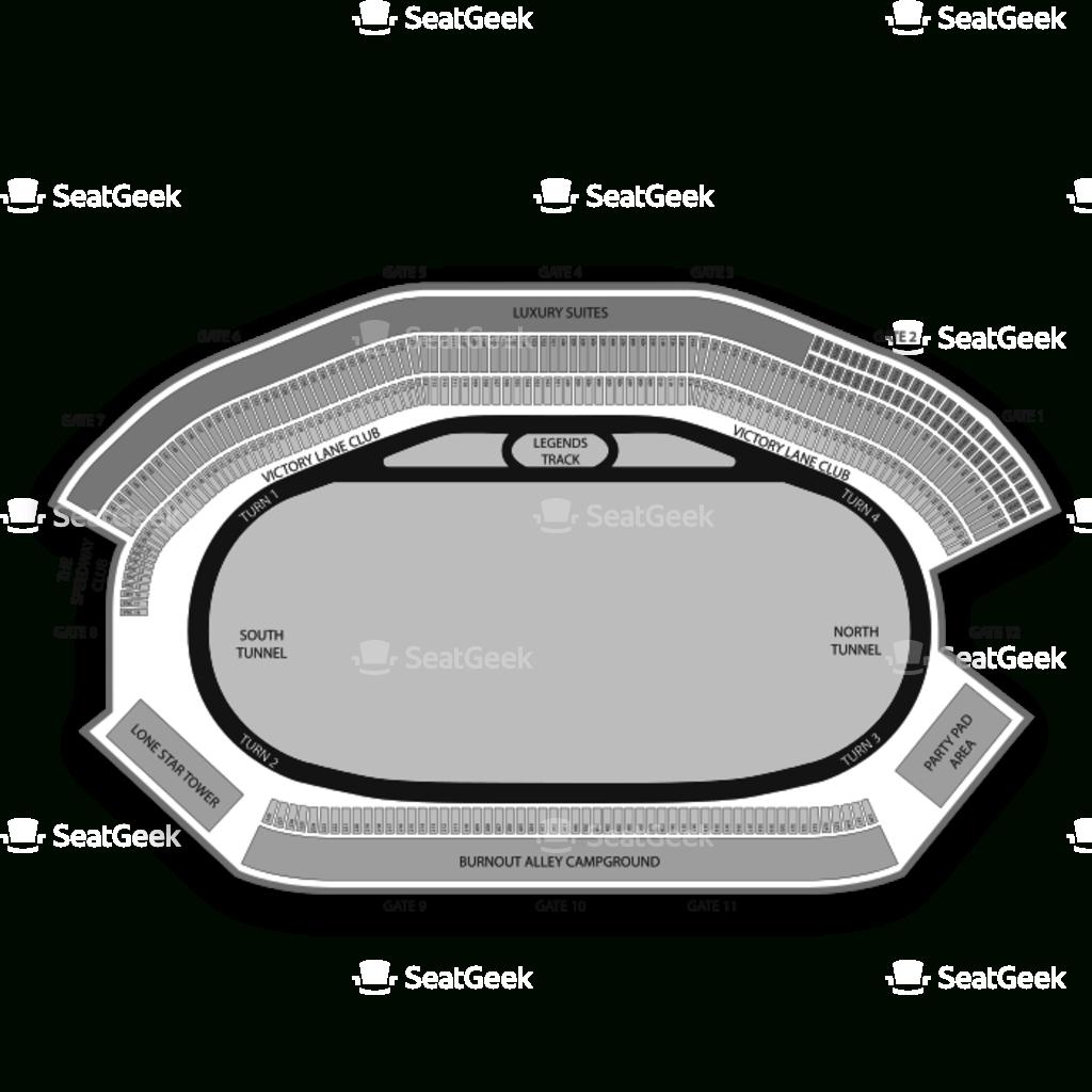 Texas Motor Speedway Seating Chart Concert & Map   Seatgeek - Texas Motor Speedway Map