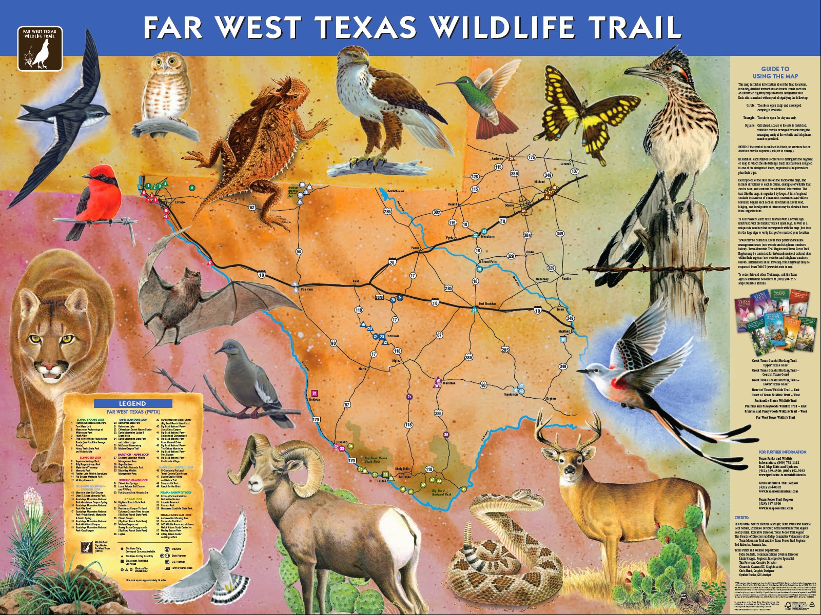 Texas Mountain Trail Daily Photo: Our Updated Far West Texas - Texas Parks And Wildlife Map
