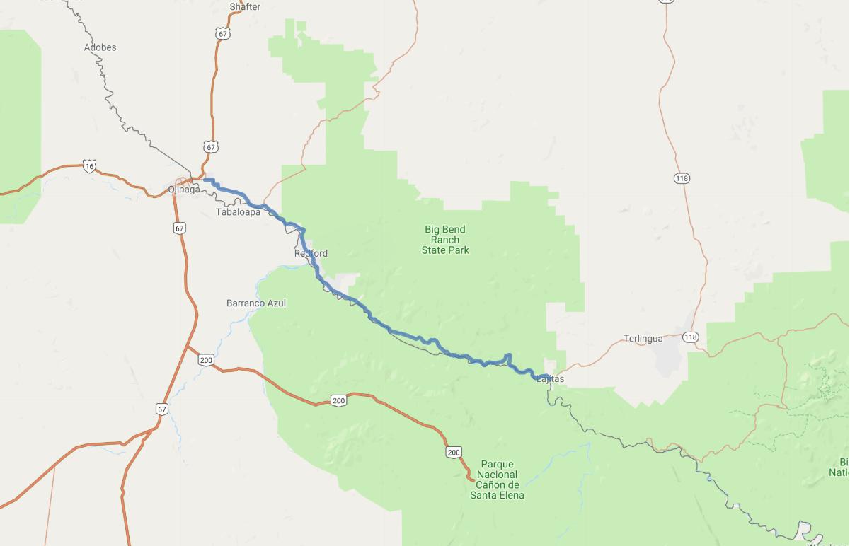 Texas Mountain Trail Scenic Drive, Presidio To Lajitas - Lajitas Texas Map