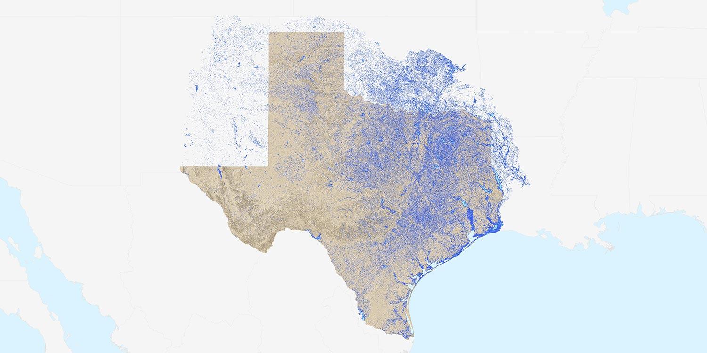 Texas Nhd River, Streams, And Waterbodies | Tnris - Texas Natural - Texas Navigable Waterways Map