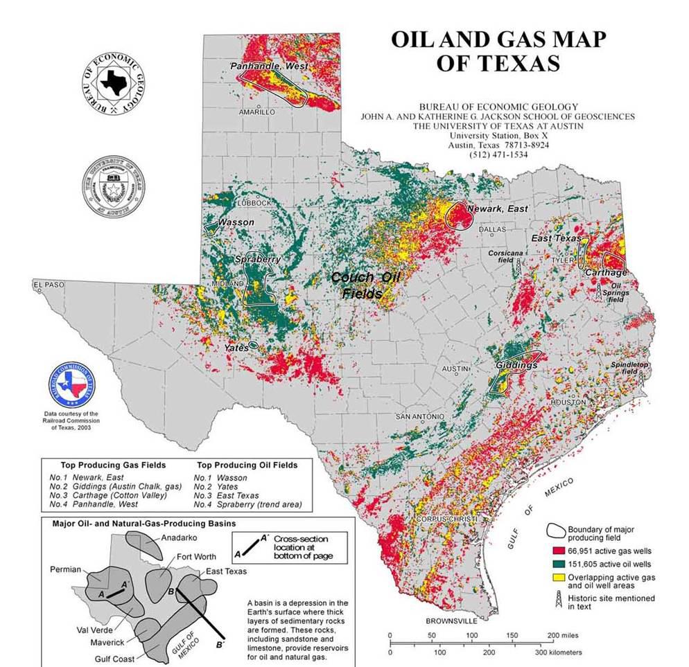 Texas Oil Map   Business Ideas 2013 - Texas Oil Well Map