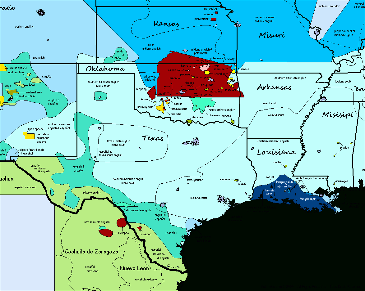 graphic regarding Printable Map of Arkansas called Texas, Oklahoma, Kansas, Missouri, Louisiana, Mississipi